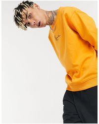 Karlkani Signature Small Logo Sweatshirt - Orange