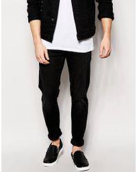 Weekday Jeans Friday Skinny Fit Black Coal