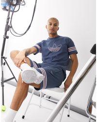 adidas Originals Spirit - T-shirt blu con trifoglio