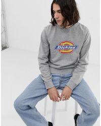Dickies - Sweatshirt With Large Logo In Grey - Lyst