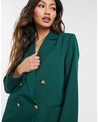 Y.A.S Темно-зеленый Двубортный Блейзер От Комплекта -зеленый Цвет