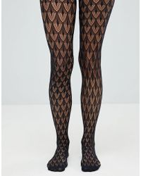 Jonathan Aston Crochet Net Tight - Black