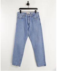Pull&Bear Wide Leg Jeans - Blue