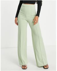 I Saw It First High Waisted Trouser Co Ord - Green