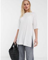 ASOS Relaxed Longline T-shirt - White