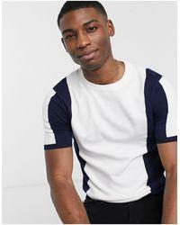 TOPMAN Knitted T-shirt - Blue