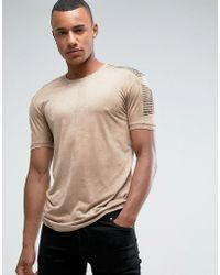 Loyalty & Faith - Loyalty And Faith Suedette T-shirt With Sleeve Detail - Lyst