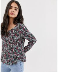 ONLY Lisa Floral Print Blouse - Green