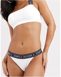 Tommy Hilfiger Braguitas blancas con el logo Authentic - Blanco