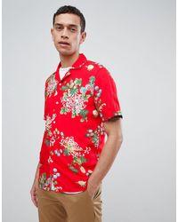 Reiss Camisa entallada - Rojo
