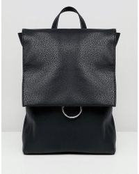 ASOS - Ring Flap Backpack - Lyst