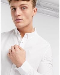 Burton Long Sleeve Skinny Organic Oxford Shirt - White
