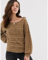 Abercrombie & Fitch Knit Jumper In Toasted Coconut - Brown