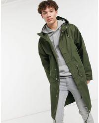 Pretty Green Pretty Lomas Longline Parka Jacket - Green