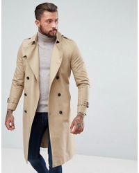 ASOS - Trench-coat impermable coupe longue avec ceinture - Lyst