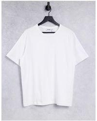 Weekday Camiseta blanca Tommie - Blanco
