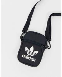 adidas Originals Черная Сумка Через Плечо С Логотипом-трилистником Adicolor-черный Цвет - Многоцветный