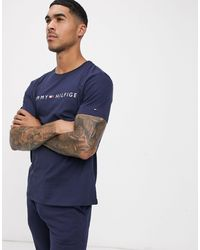 Tommy Hilfiger Chest Logo Lounge T-shirt - Black