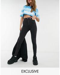 Collusion X001 - Jeans skinny a vita alta neri - Nero