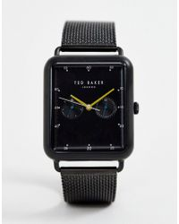 Ted Baker - Isaac Rectangular Mesh Watch - Lyst