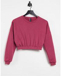 South Beach Oversized Cropped Sweatshirt - Pink