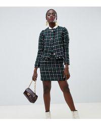 5f0b86a5c Minifalda muy corta de tweed de (parte de un conjunto - Verde