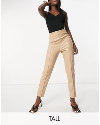 Missguided Co-ord Pu Trousers - Natural