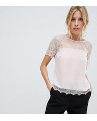 Lipsy Lace Top - Pink