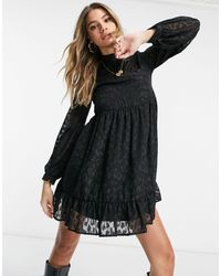 Lipsy Bow Detail Mini Dress - Black