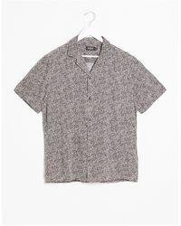 Burton Short Sleeve Shirt With Mini Leopard Print - Brown