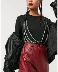 ASOS Diamante Bralette Harness - Black