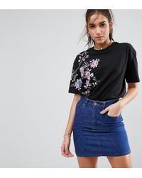 ASOS - T-shirt With Pretty Embroidery - Lyst