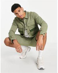 Jack & Jones Зеленая Нейлоновая Рубашка Навыпуск От Комплекта Core-зеленый Цвет