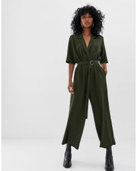Weekday - Tailored Jumpsuit In Khaki Green - Lyst