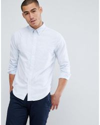 Abercrombie & Fitch - Button Down Collar Slim Fit Oxford Shirt In Light Blue Stripe - Lyst