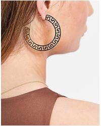 TOPSHOP Xl Hoop Earrings - Metallic