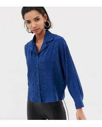 Mango Snake Print Shirt In Blue