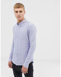 New Look - Camicia Oxford azzurra vestibilità classica - Lyst