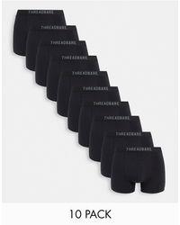 Threadbare 10 Pack Trunks - Black