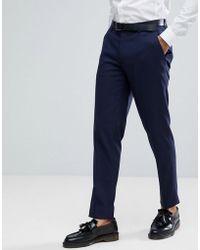 19f3f7dc11 Pantaloni da abito skinny blu navy