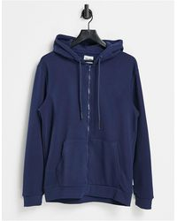 Only & Sons Zip Through Hoodie - Blue