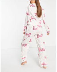 ASOS Barbie - Completo pigiama - Bianco
