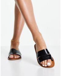 ALDO Sandalias tipo chinela negras sin cordones - Negro