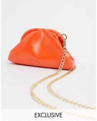 Glamorous Exclusive Mini Pillow Clutch Bag - Orange