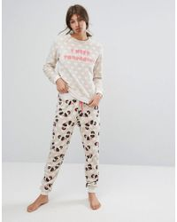 Chelsea Peers - Panda Pyjama Set - Lyst