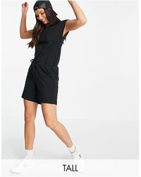 Noisy May Playsuit With Drawstring Waist - Black