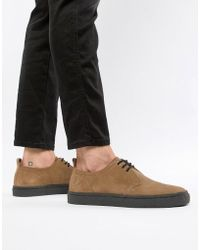 Fred Perry - Linden Low Suede Shoes In Tan - Lyst