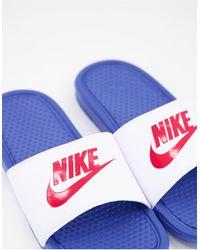 Nike Шлепанцы Benassi-многоцветный - Синий