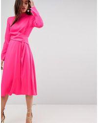 ASOS DESIGN - Asos Cut Out Midi Dress - Lyst