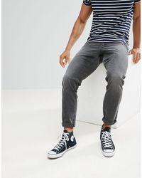 ASOS Slim Jeans In Vintage Washed Black